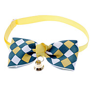 cheap -Cat Dog Collar Bow Tie With Bell Nylon Yellow Brown Blue Pink