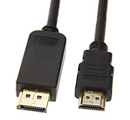Displayport Male to HDMI V1.3 Male Cable(1M)