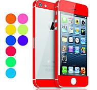 Color sólido Guardia de la piel con la parte posterior transparente Protector para iPhone 5 (colores opcionales)