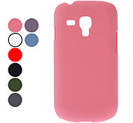 For Samsung Galaxy Case Frosted Case Back Cover Case Solid Color PC Samsung S3 Mini