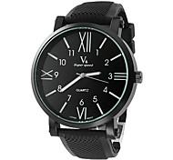 cheap -V6 Men's Quartz Wrist Watch Casual Watch Silicone Band Charm Black