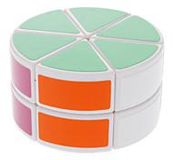 abordables -DS-88 del cilindro en forma de dos capas Rompecabezas Cubo Mágico IQ Kit completo (Blanco)