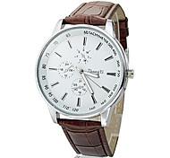 мужской деловой стиль PU Кожаный ремешок кварцевые наручные часы (разных цветов)