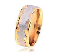 Fashion  Men'S Ripple Pattern Stainless Steel  Ring