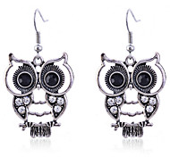 cheap -Women's Drop Earrings Crystal Silver Plated Owl Animal Jewelry Party Daily Casual Costume Jewelry