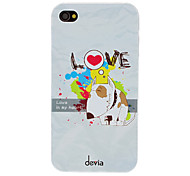 DEVIA In Love Puppy Pattern PC Hard Case for iPhone 4/4S