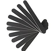 10 Профессиональная пилочка Тонкий Полировка наждачная бумага Черный