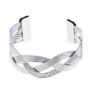 полоса вырезать плетеный браслет из манжеты (больше цветов) классический женский стиль