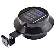 cheap -3-LED Solar Powered Gutter Door Fence Wall Light Outdoor Garden Lighting