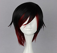 cheap -Cosplay Wigs RWBY Ruby Rose Anime Cosplay Wigs 35 CM Heat Resistant Fiber Women's