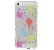 Красочные Палм Pattern Прозрачный защитный мягкий чехол для iPhone 5/5S