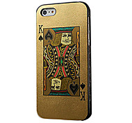 Poker-Karten-Design Hard Case für iPhone 5/5s/5g (König rot oder schwarz König)