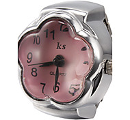 Women's Flower Style Quartz Analog Ring Watch (Assorted Colors) Cool Watches Unique Watches Fashion Watch