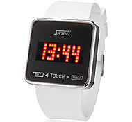 cheap -SKMEI Men's Digital Wrist Watch Touch Screen Calendar / date / day LED Silicone Band Charm Black White
