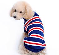Dog Sweater Dog Clothes Stripe Dark Blue