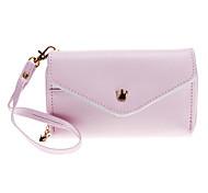 Sobre la carpeta del monedero del estilo bolso de la caja encantadora con lápiz óptico para Samsung / Móviles Iphone Bajo 5 pulgadas (rosa)