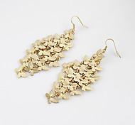 Golden Butterfly Drop Earrings