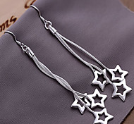 Fashion Alloy Sterling Silver Plated Star Earrings Elegant Style
