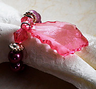 Projeto da folha do anel de guardanapo, Acrílico