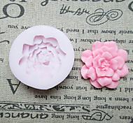 Недорогие -DIY одно отверстие Цветок силиконовые формы Фондант Пресс-формы Сахар Craft Инструменты Смола цветы Плесень пресс-формы для тортов