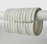 Недорогие -1шт Крючки для шторы в ванную пластик Ванная комната