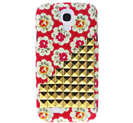 cheap -For Samsung Galaxy Case Rhinestone / Pattern Case Back Cover Case Flower PC Samsung S4