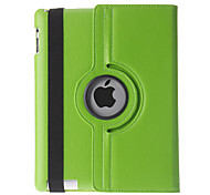 360°Rotating Tabby Pattern PU Full Body Case with Stand for iPad 2/3/4 (Assorted Colors)