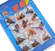 12 Stück Fliegen Ködertasche Angelköder Fliegen Ködertasche Verschiedene Farben g/Unze mm Zoll,Metal Spinnfischen