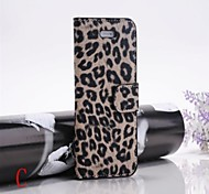 For iPhone X iPhone 8 iPhone 8 Plus iPhone 5 Case Case Cover with Stand Flip Pattern Full Body Case Leopard Print Hard PU Leather for