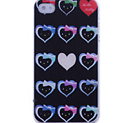 Loverly Heart Head Portrait Pattern Back Case for iPhone 4/4S