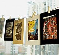 6 Inch 10 Pack Scenery Pattern Hanging Paper Photo Frame (Black,White,Brown)