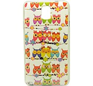 Owls On The Mast Pattern IMD Craft Smooth TPU Case for Samsung Galaxy Note 3 N9000