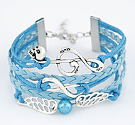 Women's Jewelry Multi Layer Handmade European Costume Jewelry Wings / Feather Music Notes Infinity Jewelry For Daily Casual