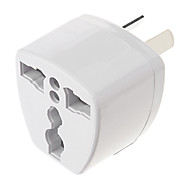 Universal AU Port Travel Power Adapter Plug (250V, White)