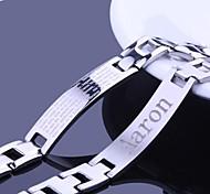Недорогие -Персональный подарок Мужские украшения из нержавеющей стали выгравированы ID Браслеты 1.2cm Ширина