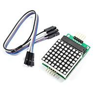 abordables -MAX7219 point rouge module de matrice avec des lignes 5 dupont pour (pour Arduino) (fonctionne avec les cartes officielles (pour Arduino))