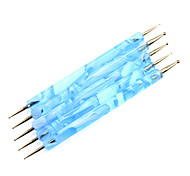 5шт 2-полосная Nail Art расставить Blue Waves Ручка Dot Наборы инструментов