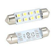 cheap -Merdia Festoon 41mm  8 x SMD 1210  LED White Light  for Car Steering Light Bulb / Reading Lamp - (2 PCS)