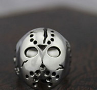 Z&X®  Punk Silver Alloy Mask Men's  Statement Rings(1 Pc)  Christmas Gifts