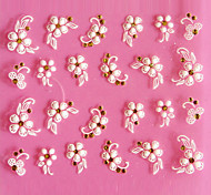 3D Design Lovely Five-petaled Flower Pattern Carving Nail Art Stickers