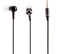 J903 3.5mm Stylish Zipper In-Ear Headphone with Mic(Black)