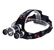 Headlamps Headlight LED 3800 lm 3 Mode Cree XM-L T6 Waterproof for Camping/Hiking/Caving Cycling/Bike Multifunction