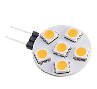 0.5W G4 LED Spotlight 6 leds SMD 5050 Warm White 75-85lm 2800-3500K DC 12V