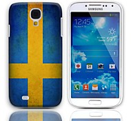 Vintage The Flag of Sweden Design Hard Case with 3-Pack Screen Protectors for Samsung Galaxy S4 mini I9190