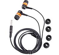 SE08 liga de alumínio da caixa Stereo In-Ear Fones de ouvido com fones de ouvido