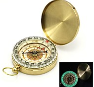 Flip-Open Gold Plated noctilucent Pocket Compass