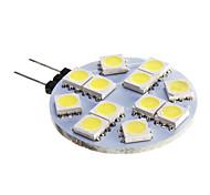 cheap -420 lm G4 LED Spotlight 12 leds SMD 5050 Cold White DC 12V