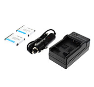 ismartdigi-Nik EN-EL10 (2pcs)750mah,3.7V Camera Battery+Car charger for NIKON S3000 S200 S500 S700 S5100 S4000