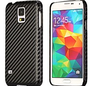 Carbon Fiber Pattern Leather Coated Hard Case Cover for Samsung Galaxy S5 I9600