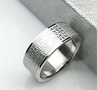 cheap -Men's Band Rings Stainless Steel Cross Jewelry Christmas Gifts Daily Casual